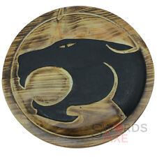ThunderCats Carved Round Wooden Shield Cosplay Costume LARP Weapon Panther Liono