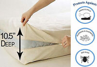 Mattress Topper Pad Bedding Waterproof Protective Bed Cover Queen Size - New