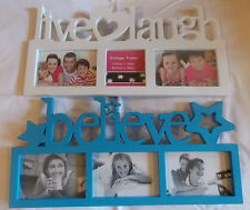 Live Love Laugh and Believe Pictures Frames 2 Piece Set