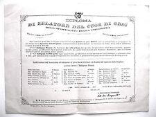 DIPLOMA DI RELATORE DEL CUOR DI GESU APOSTOLATO PREGHIERA PIO IX indulgenze 879