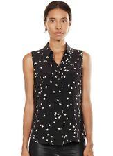 EQUIPMENT Colleen Star Print Silk Sleeveless Shirt Blouse Size Medium M