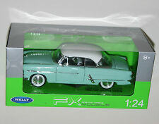 Welly - FORD CRESTLINE VICTORIA (1953) Mint/White - Die Cast Model Scale 1:24