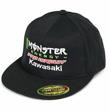 Pro CIRCUIT MONSTER ENERGY KAWASAKI MX CAP BERRETTO Motocross L/XL FLEXFIT Nero