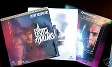 Clint Eastwood Laserdisc Collection A Fist Full of Dollars Sudden Impact,3 Movie