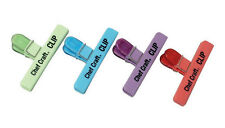 Lot of 4 CHEF CRAFT LARGE BAG CLIP for chips, pretzels and candy Assorted colors