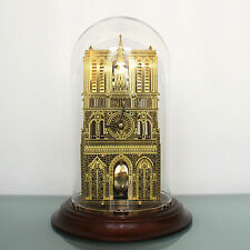 NOTRE DAME HERMLE FRANKLIN MINT Mantel TOP Clock Paris TRANSLUCENT Dome/SKELETON