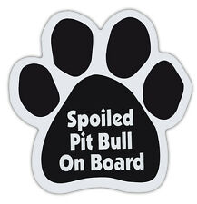 Dog Paw Shaped Magnets: SPOILED PIT BULL ON BOARD (PITBULL) | Dogs, Gifts
