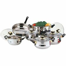 12PC STAINLESS STEEL COOKWARE SAUCEPAN PAN/ POT SET