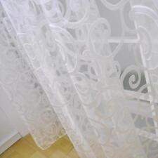 1pc Room Floral Pattern Window Curtain Sheer Voile Panel Drapes Divider Curtain