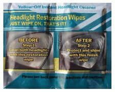 TWO SETS OF HEADLIGHT CLEANER RENEWER INSTANT LENS RESTORATION RESTORER WIPES