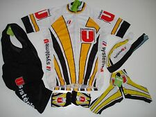 New size Medium / M - SYSTEME U Team Cycling Bike Set Jersey Bib Shorts Gloves +