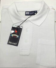 Mens Plain Polo Shirt Pocket Pique T Shirt Short Sleeve 9 Colours Small upto 6XL