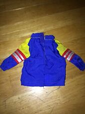 BARBIE DOLL CLOTHING ACCESSORY TOO COOL FOR SCHOOL WARM-UP JACKET HIP BLUE RED
