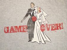 "Marriage: ""Single Player"" Game Over Wife Don't Get Married Bachelor T Shirt L"