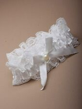 white lace Wedding GARTER BOW PEARL BRIDE TO BE HEN 4904 SEXY BRIDAL