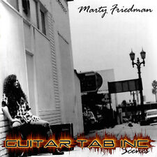 Marty Friedman Guitar Tab SCENES Lessons On Disc Megadeth