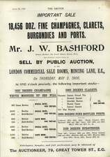 1900 Mr Jw Bashford Find Champagnes Burgundies Auction