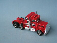 Lesney Matchbox Convoy Peterbilt Truck Red with Stripes Clear Window