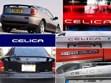 CHROME MIRROR TOYOTA CELICA BUMPER LETTERS REAR INSERTS NOT DECALS
