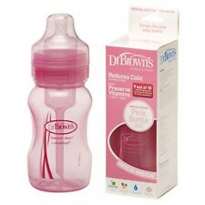 Dr. Brown's Special Edition Wide-Neck 240ml/8oz Single Bottle - Pink