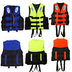 Polyester Adult Life Jacket Universal Swimming Boating Ski Foam Vest + Whistle