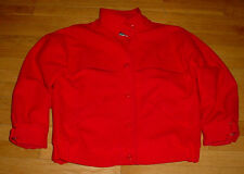 THE WOOLRICH WOMAN Vtg Red 100% Wool Coat Jacket Made in USA Size M EUC Nice!