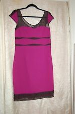 Betsey Johnson Black/Purple Stretch Dress Size 10