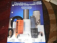 1992 DONALDSON FILTERS MASTER PARTS CATALOG W APPLICATIONS NUMBER