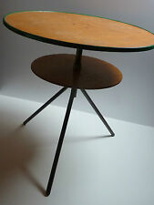 50er IndustrieDesign TISCH rund 60 cm Stahlrohr-Tisch  50s round table