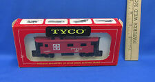 Vintage HO Tyco Train Box Car Santa Fe 8 Wheel Caboose Unlight Original Box USA