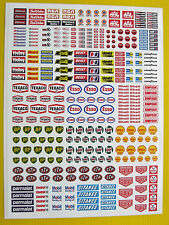 SLOT CAR SCALEXTRIC 1/32nd scale Race Car logos & scenery stickers decals