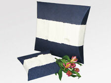 Navy Biodegradable Journey EarthUrn, Hand Crafted Adult Funeral Cremation Urn