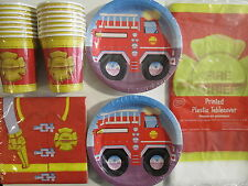 FIRE FIGHTER - Birthday Party Supplies Set Pack Kit 16