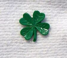 PIN BROOCH CLOVER IRISH IRELAND LEPRECHAN SHAMROCK ELF DUBLIN GREEN ST PATRICKS