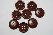 10pc 15mm Cherry Brown Mock Wood Effect Coat Cardigan Kids Button 2687
