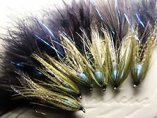 Irideus Camo Blueberry Soft Hackle Wooly Bugger Streamer flies Trout Fly Fishing