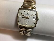 VTG HAMILTON Masterpiece 10K Gold Filled Men's Quartz SWISS Watch - Runs Well