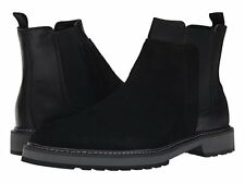 Calvin Klein Avis Black Suede Leather Chelsea Boots Mens 9.5 NEW IN BOX