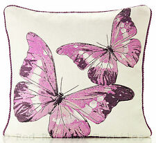 Butterfly Tapestry Lilac / Purple / Magenta 18 inch Cushion Cover Vintage Print