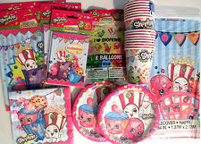 SHOPKINS Birthday Party Supply Pack DELUXE Kit w/Bags,Invites, Balloons & Banner