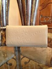 Authentic Tous Beige / Brown Leather Wallet / Bag / Clutch / Handbag / Coin