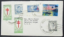 Philippines Envelope Davao City Tuberculosis Stamp Philippinen MiF Brief H-10137