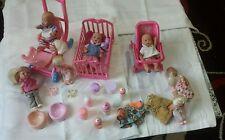 Muñecas del bebé Juguete Set: Cuna, ropa y otros accesorios