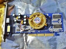 PNY Verto GF AGP 8x graphics card TV out 128MB DDR400 FX5200 #GF05200A8D11JP8 0C