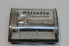 Vintage 1960 Gillette Fat Boy F4 Adjustable Safety Razor w/ Case