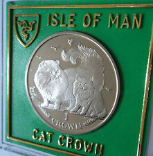 2009 Isle of Man Chinchilla Breed Cat Kitten Crown Coin Gift Set in Display Case