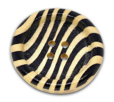 10  Zebra stripe Design Wooden Sewing Craft Buttons - 3cm Free UK P&P