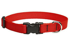 "Lupine Dog Collar 3/4"" RED 9""-13"" New Nylon Adjustable USA"