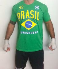 Punishment Athletics Men's T-shirt Brazil Slim Fit Poly Cotton Blend XX-Large