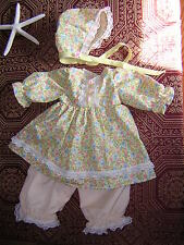 NEW! beautifully handmade set of 3 clothes for your Reborn Baby Doll